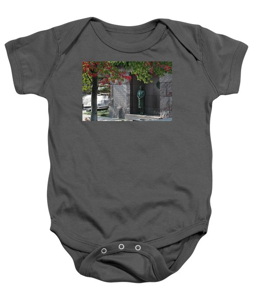 Eleanor's Alcove At The Fdr Memorial In Washington Dc Baby Onesie