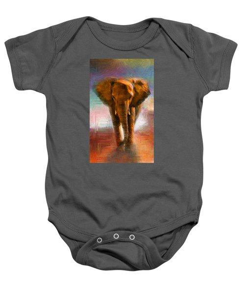 Elephant 1 Baby Onesie