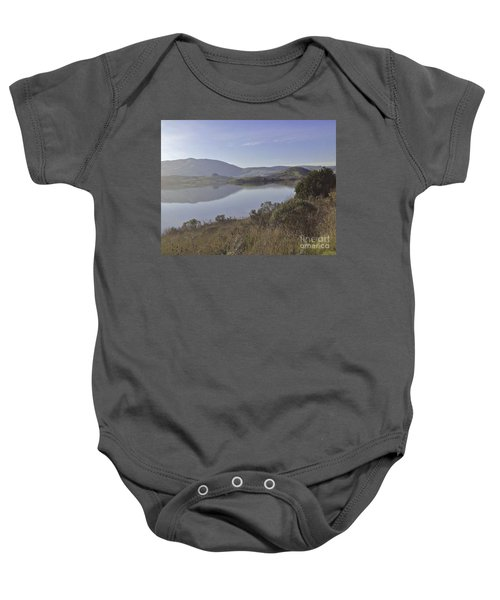 Elephant Hill In Mist Baby Onesie