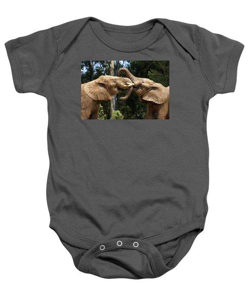Elephant Play Baby Onesie
