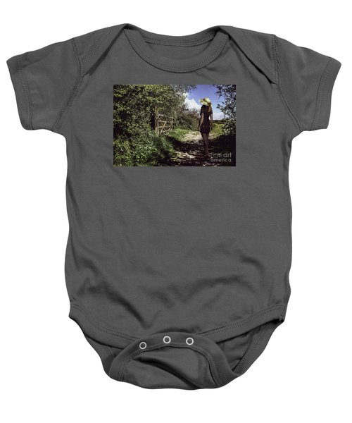Eliza's Walk In The Countryside. Baby Onesie