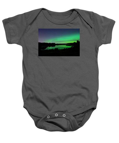 Elk Island Aurora Reflections Baby Onesie