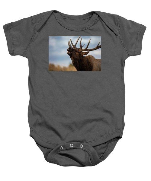 Elk's Screem Baby Onesie by Edgars Erglis
