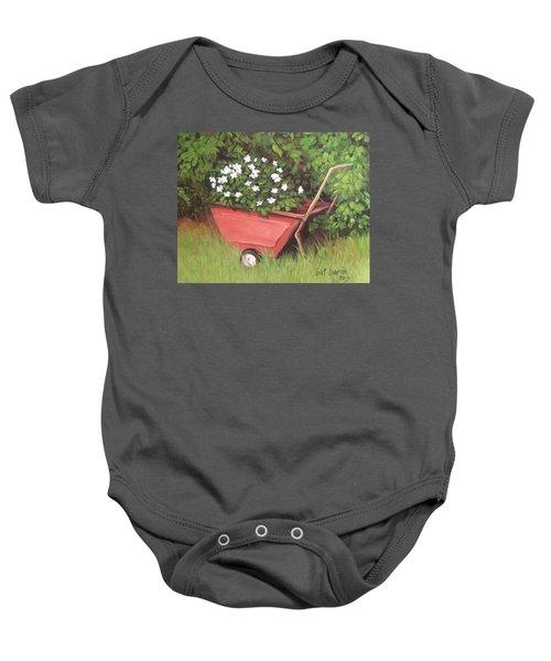 Eloise's Garden Cart Baby Onesie