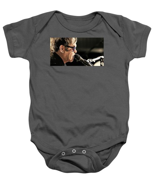 Elton John At The Mic Baby Onesie