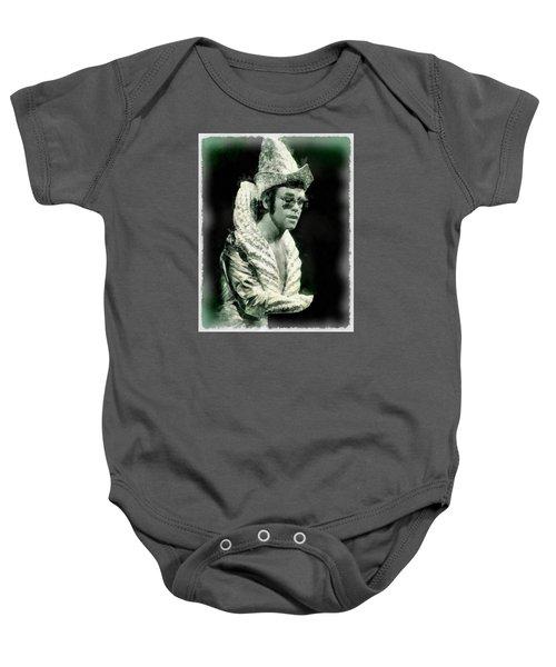 Elton John By John Springfield Baby Onesie