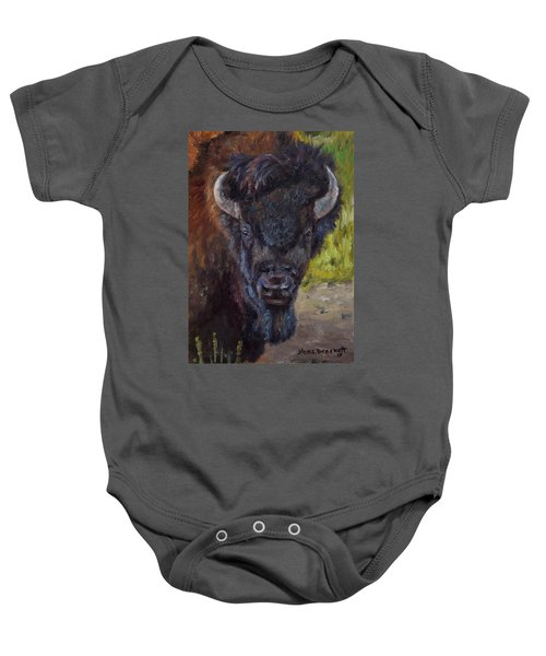 Elvis The Bison Baby Onesie