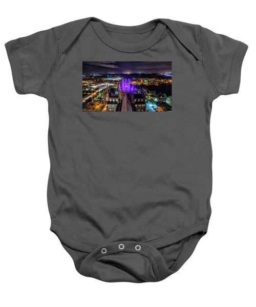 Ely Cathedral In Purple Baby Onesie