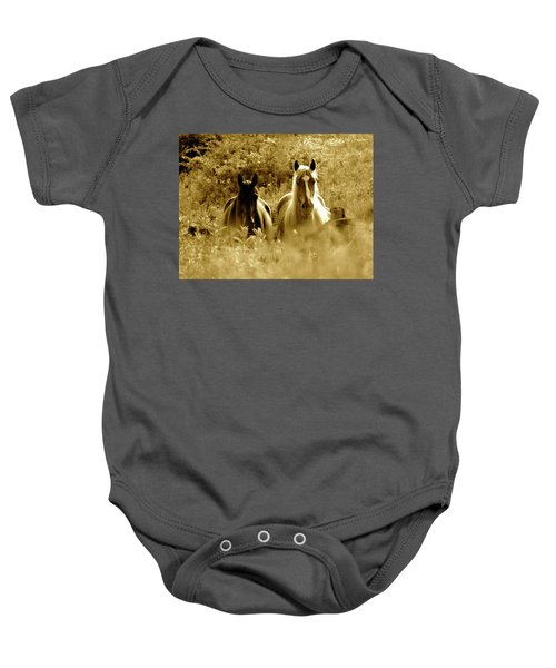 Emerging From The Farm Baby Onesie