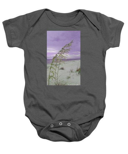 Emma Kate's Purple Beach Baby Onesie