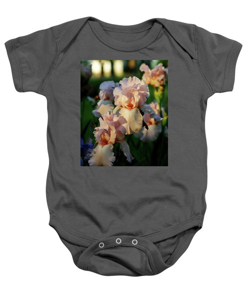 End Of Day Pink Irises 6702 H_2 Baby Onesie