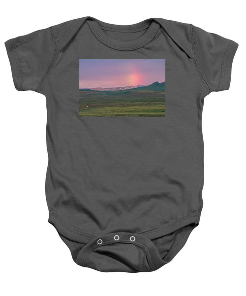 Baby Onesie featuring the photograph End Of Rainbow by Hitendra SINKAR