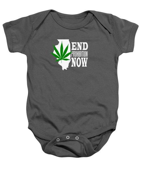 End Prohibition Now Illinois White Baby Onesie