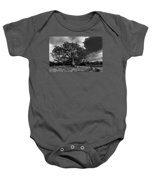 Engellman Oak Palomar Black And White Baby Onesie