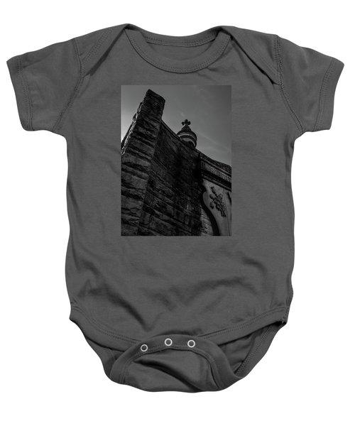 Eternal Stone Structure Bw Baby Onesie