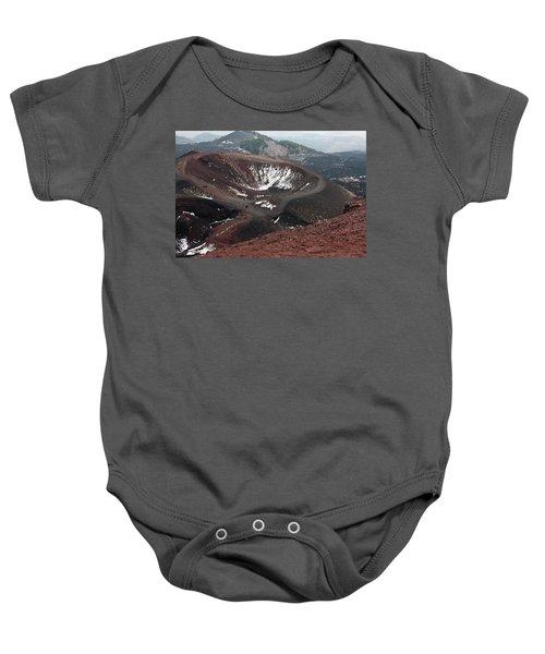 Etna, Red Mount Crater Baby Onesie