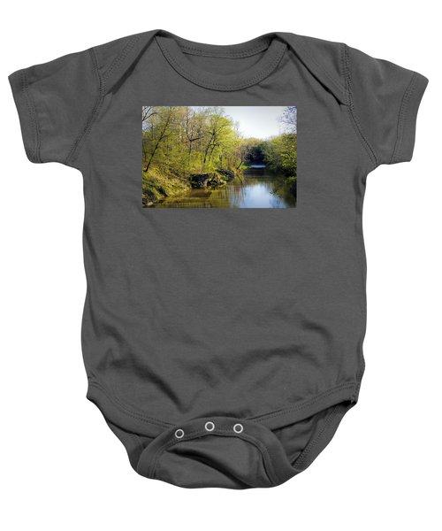 Evening Falls On Cedar Creek Baby Onesie