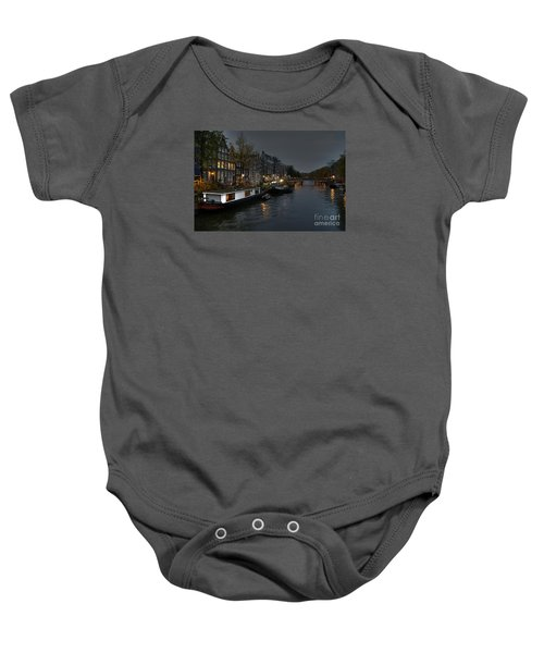 Evening In Amsterdam Baby Onesie