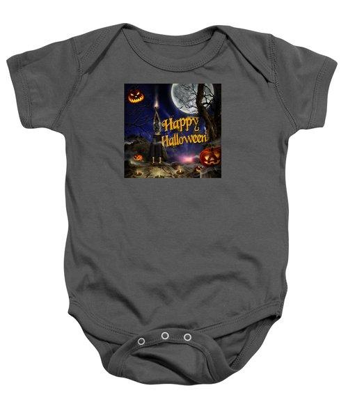 Evocation In Halloween Night Greeting Card Baby Onesie