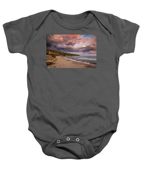 Explosion Of Colored Clouds Baby Onesie