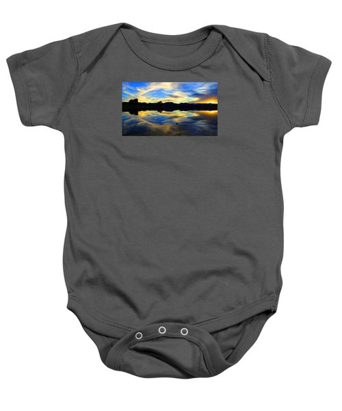 Eye Of The Mountain Baby Onesie