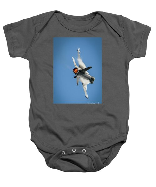 F-16 Banks Right Baby Onesie