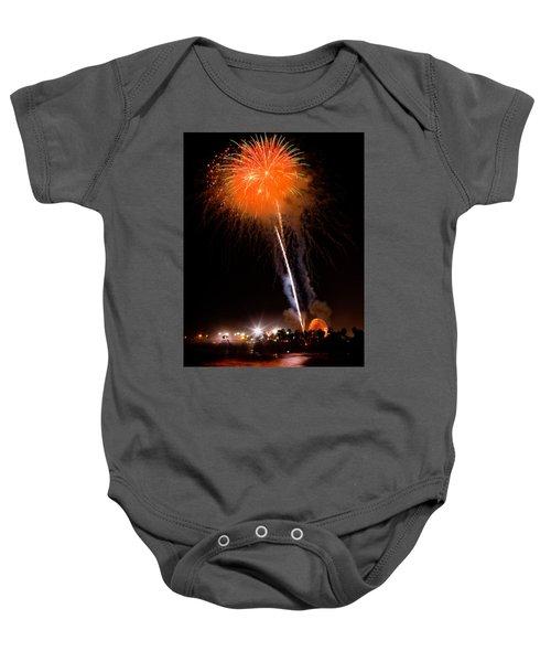 Fireworks As Seen From The Ventura California Pier Baby Onesie