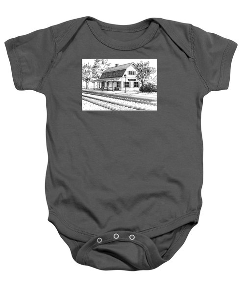 Fairview Ave Train Station Baby Onesie