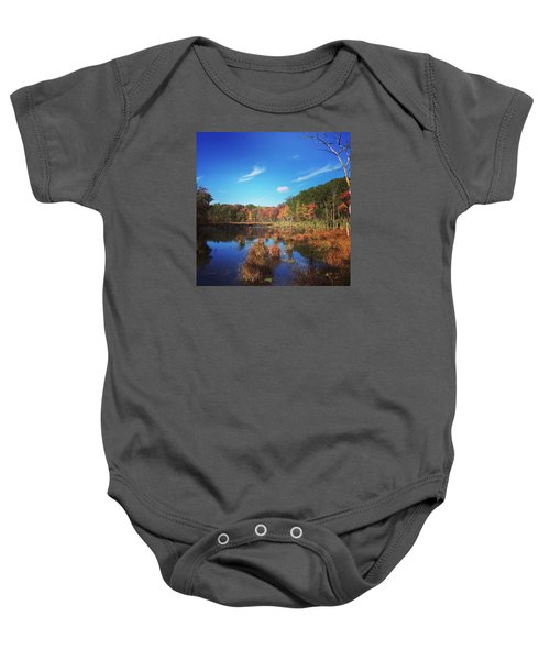 Fall At The Pond Baby Onesie