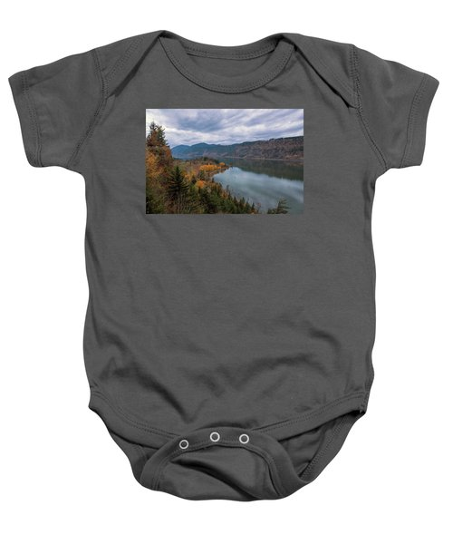 Fall Color At Ruthton Point In Hood River Oregon Baby Onesie