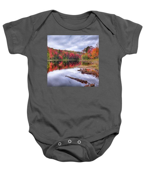 Baby Onesie featuring the photograph Fall Color At The Pond by David Patterson