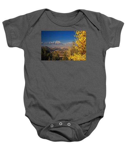Fall Colors At The Snake River Overlook Baby Onesie