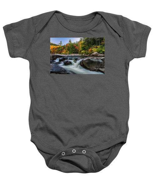 Fall Foliage Along Swift River In White Mountains New Hampshire  Baby Onesie