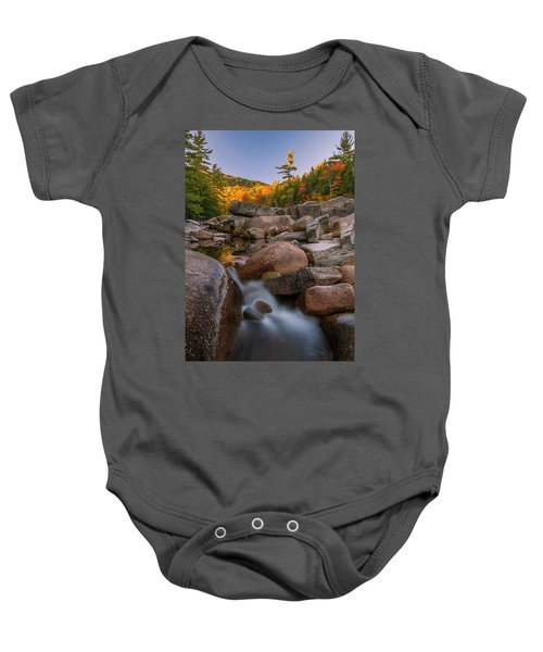 Fall Foliage In New Hampshire Swift River Baby Onesie