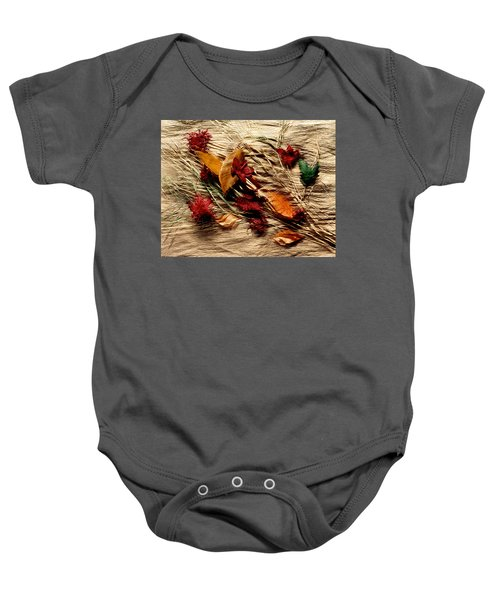 Fall Foliage Still Life Baby Onesie