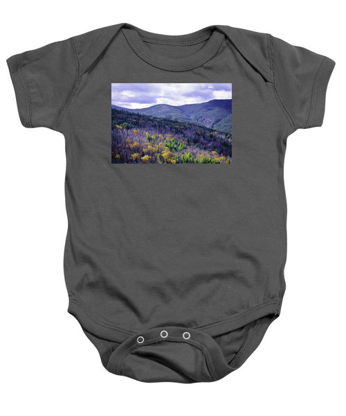Fall In The White Mountains Baby Onesie