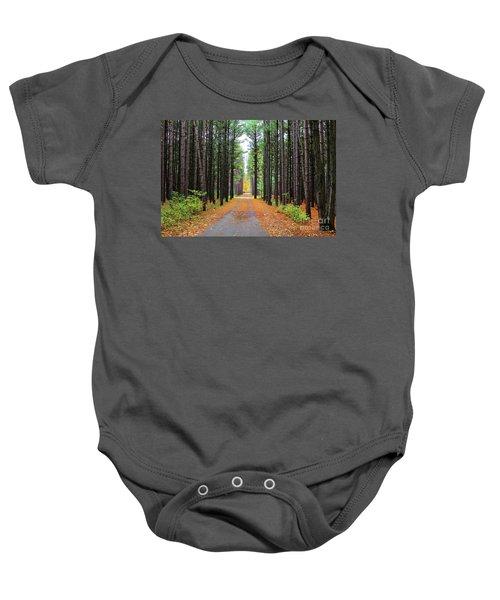 Fall Pines Road Baby Onesie
