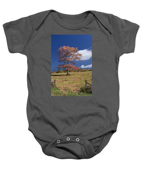 Fall Tree Baby Onesie