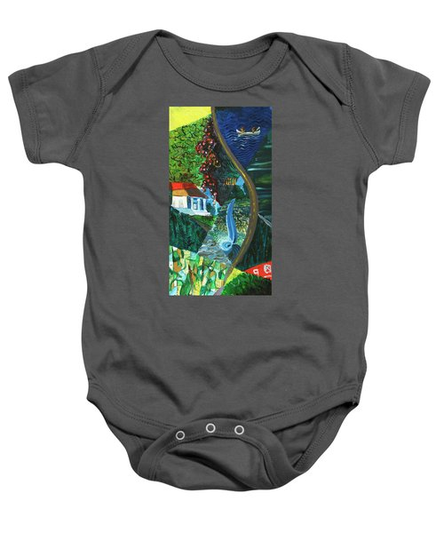 Falls, Fingers And Gorges Baby Onesie
