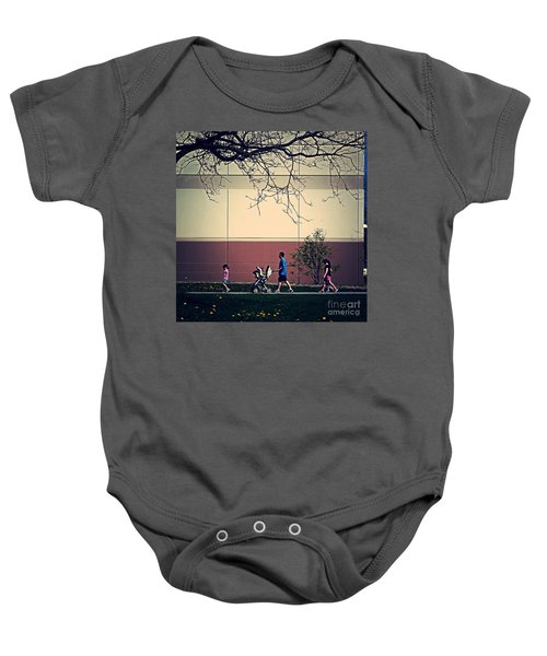 Family Walk To The Park Baby Onesie