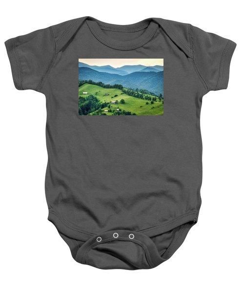 Farm In The Mountains - Romania Baby Onesie