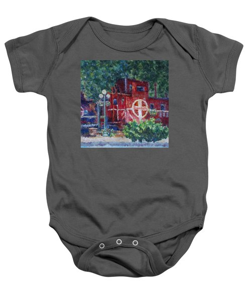 Featherbed Railroad Caboose Baby Onesie