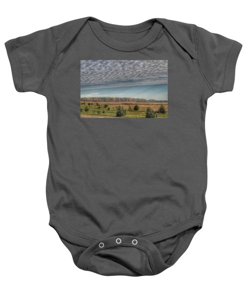 9017 - Fences, Firs And Fall Baby Onesie