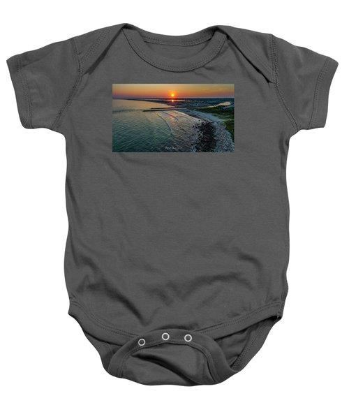 Fenway Beach Sunset Baby Onesie