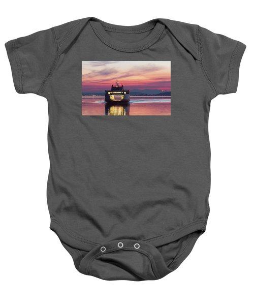 Ferry Issaquah Docking At Dawn Baby Onesie