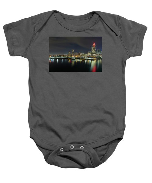 Ferry Terminal In Vancouver Bc At Night Baby Onesie