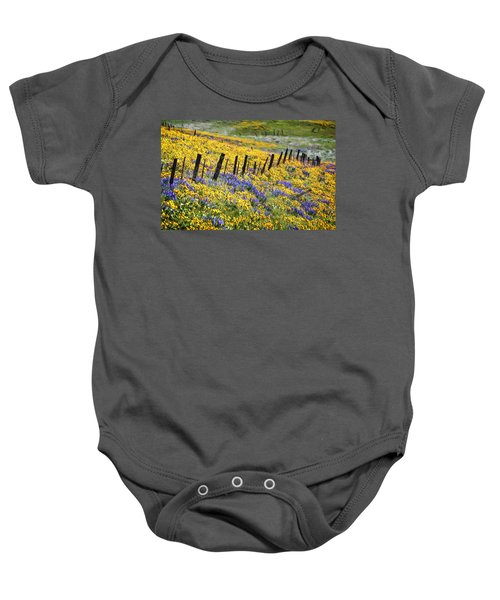 Field Of Gold And Purple Baby Onesie