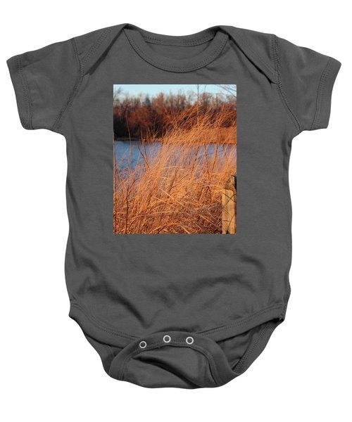 Amber Brush On The River Baby Onesie