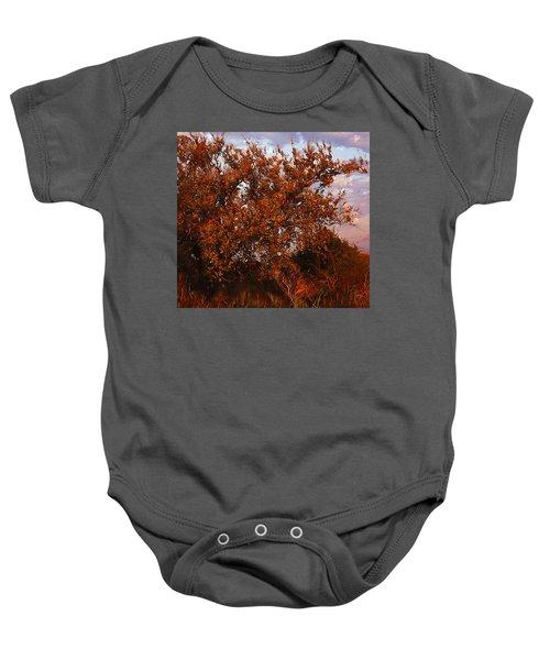 Fiery Elm Tree  Baby Onesie