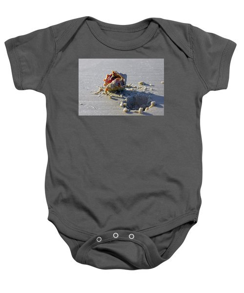 Fighting Conch On The Beach Baby Onesie